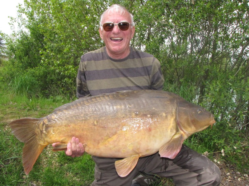 Tony with his equal PB @ 47.08