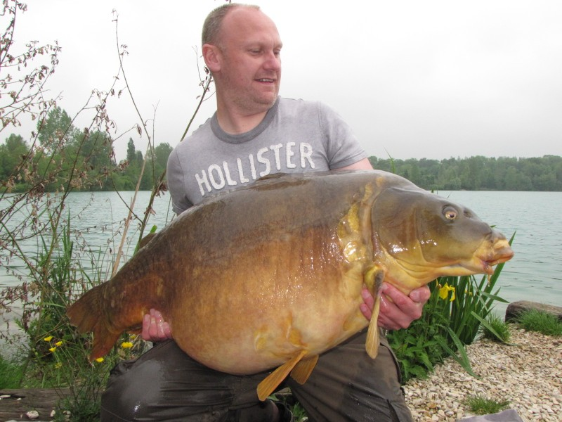 Jason with Mr Angry at 63lb 3oz from Alcatraz in May 2012