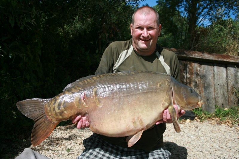Gerry with ' Giggler' @ 50.04