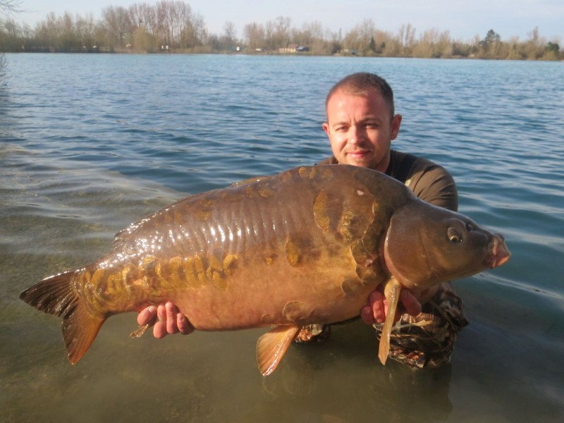 Jaymes with Humpy at 34lb+ last out in September 09