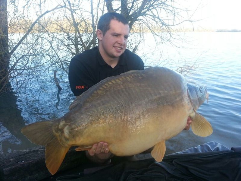 "Tom Maker with ""The Freak"" at 52lb+ caught on a 22ft zig."
