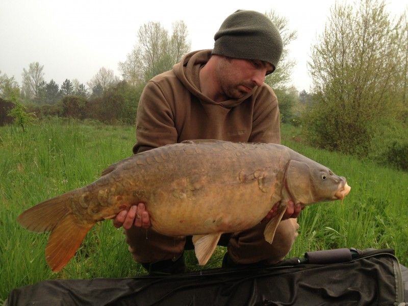 Shaun with 26lb+ caught on a black zig