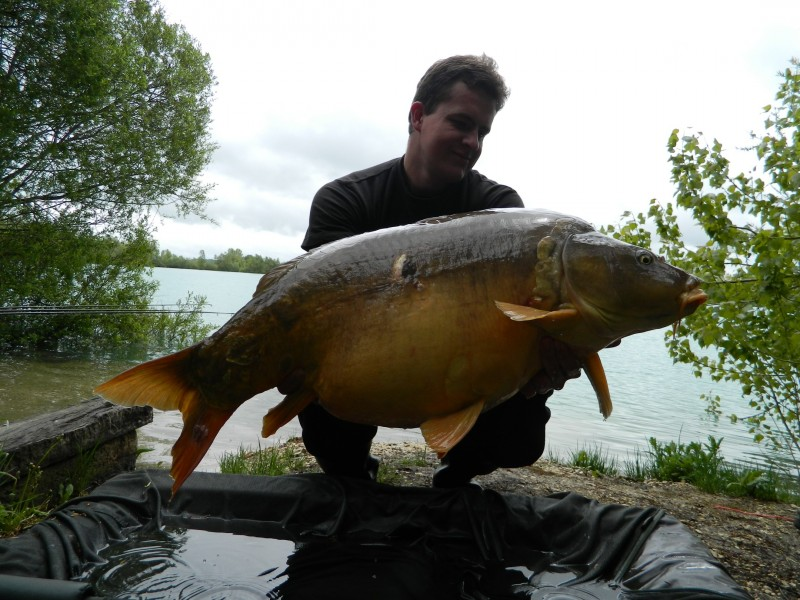 Radek with a 55lb mirror from Scotties Corner
