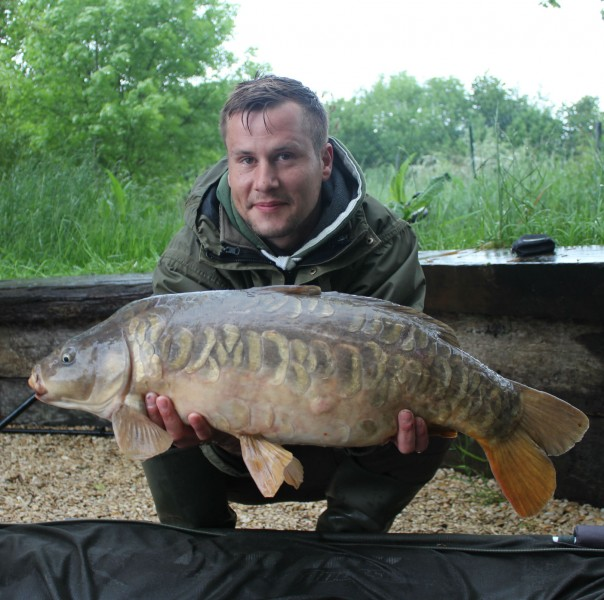 Dave with a 17lb mirror