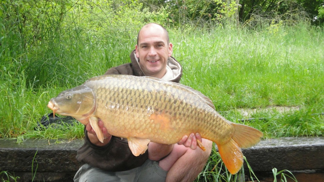 James with a 34lb zig caught common