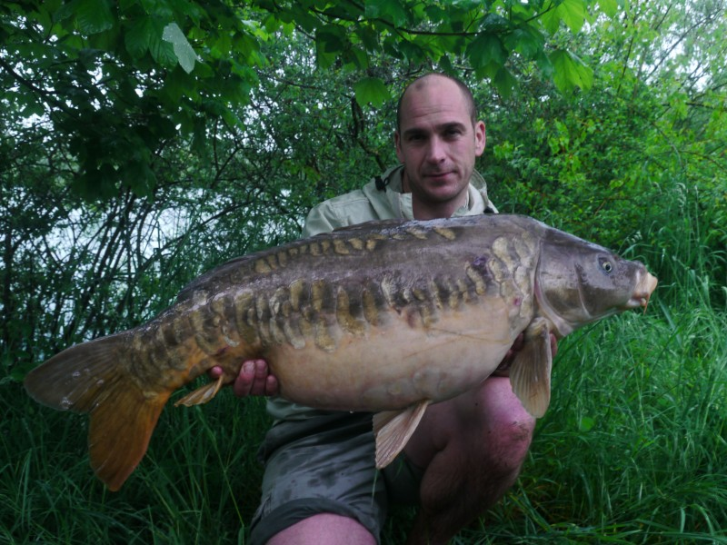 James with a 32lb stunning mirror