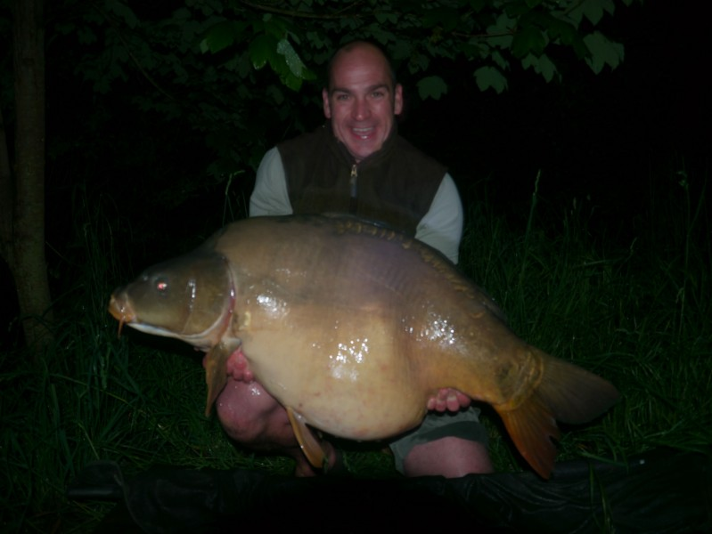 James with a 12ft zig caught 53lb mirror