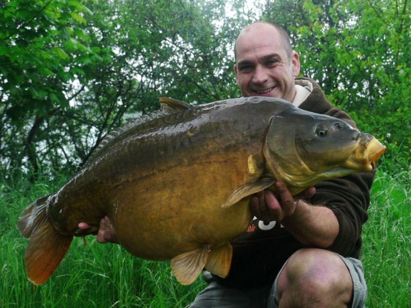 James with a 44lb mirror caught on a 10ft zig