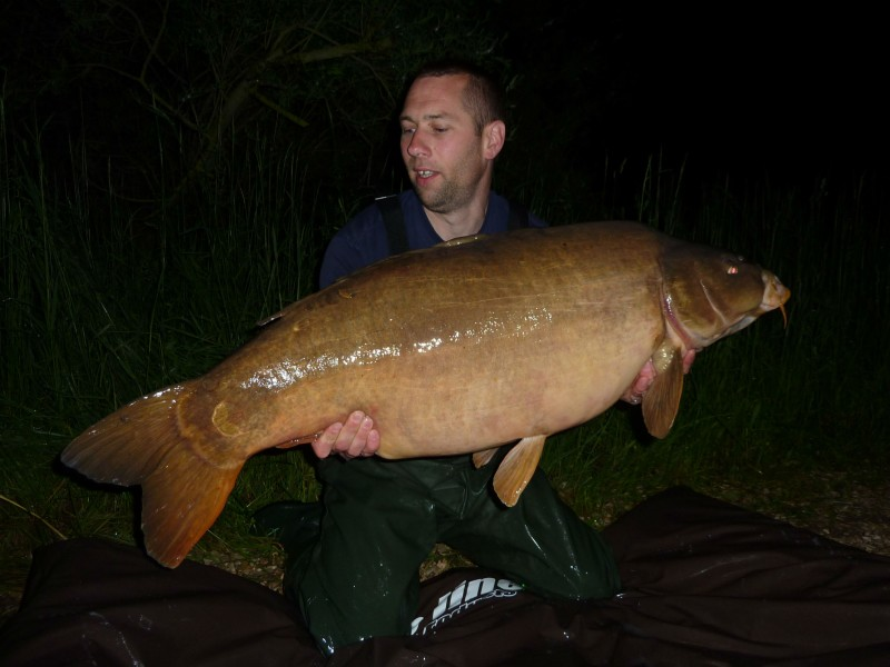 "Dan with ""the big leather"" at 51lb"