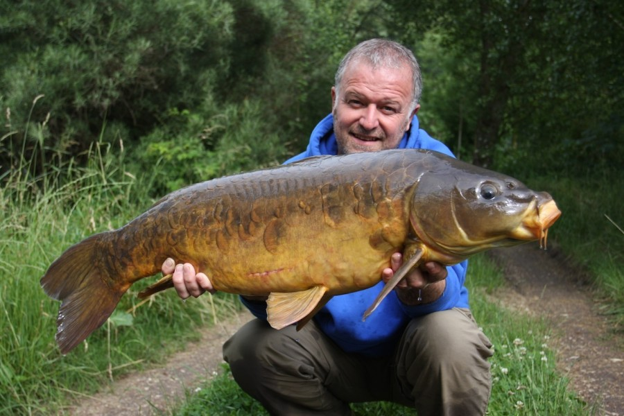 Barty with a 25lb mirror