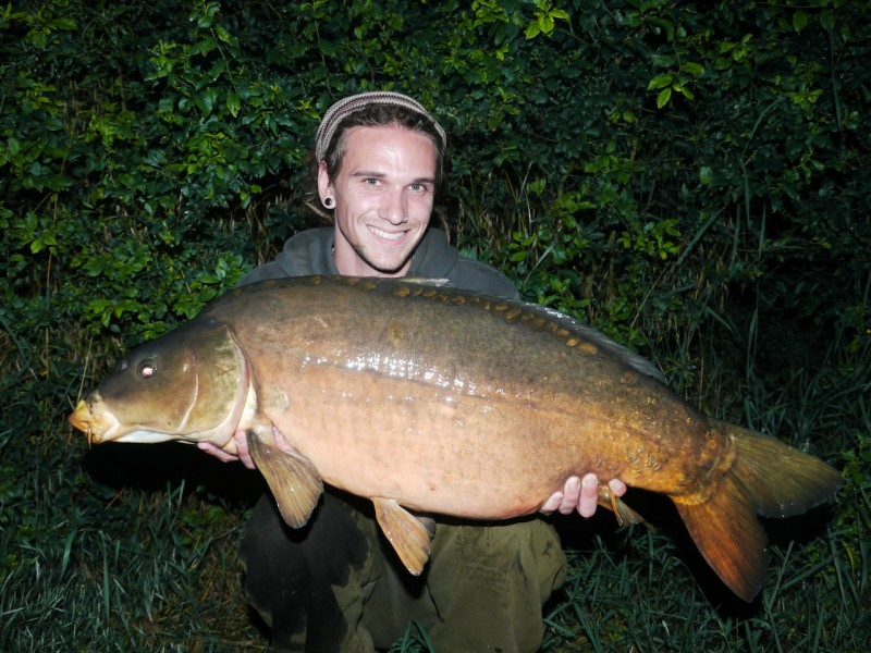 Olly with a 36lb mirror