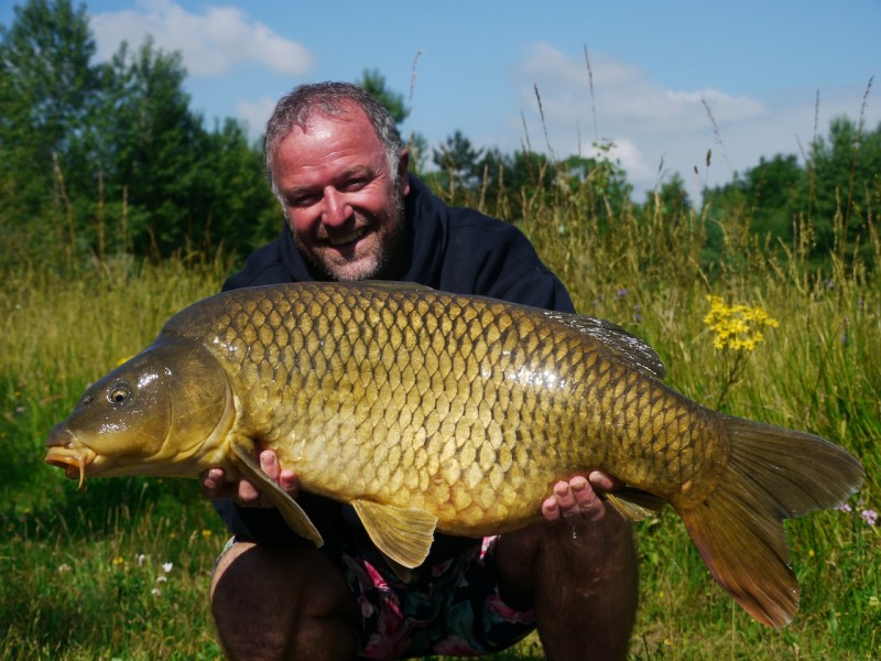 Barty with a 29lb common