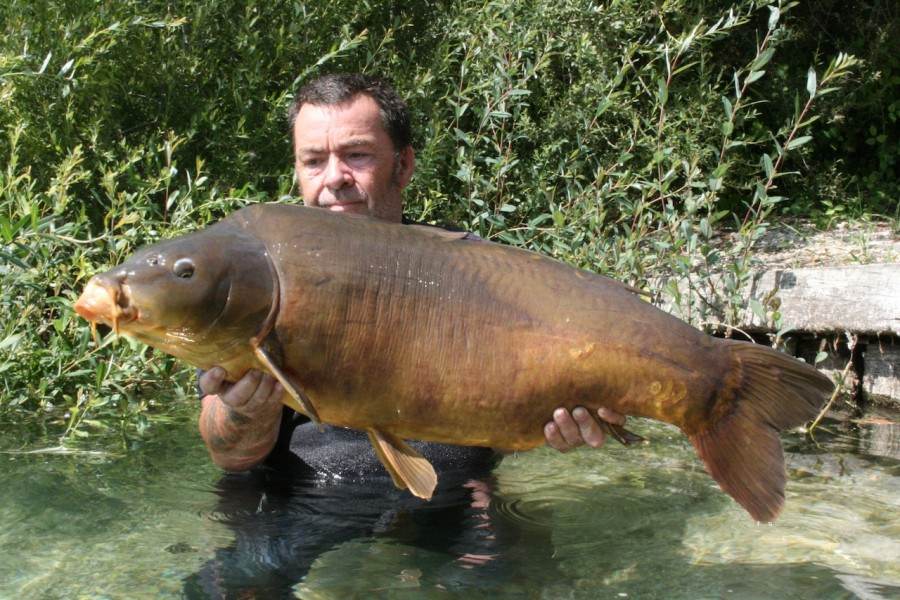"Roy with ""spotty leather"" 44.02lb, Big Girls July 2013"