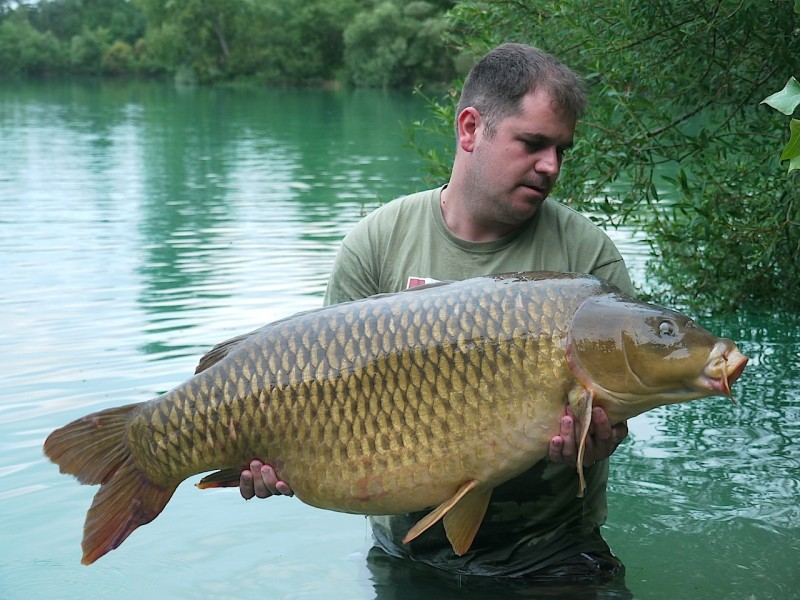 "Nick with ""cut tail common"" 53lb Big Southerly July 2013"