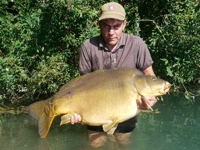 Jay with Split Pec at 55lb from Co's Point in August 2013