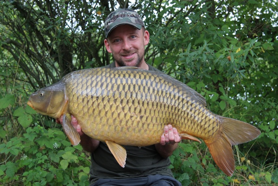 Damian with a 38.13lb common
