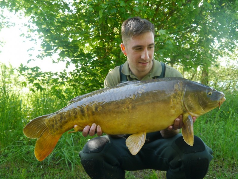 Josh with his first Gigantica carp