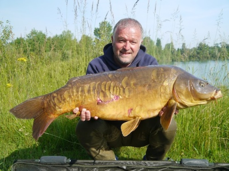 Barty with a stunning 32lb mirror