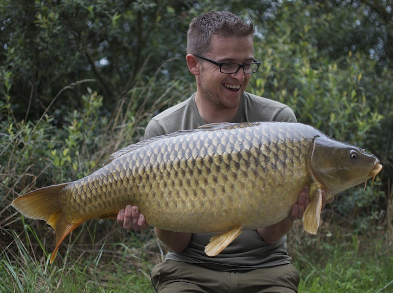 Neil with a mint 31lb common