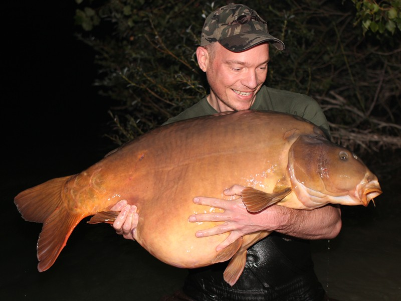 Jon with Brutus at 63lb12oz from Pole Position