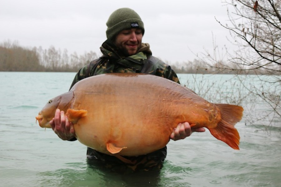 Fudgy's at 86lb 8oz from Co's Point in February 2016