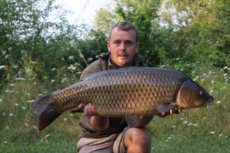 Elliott with a 29lb common