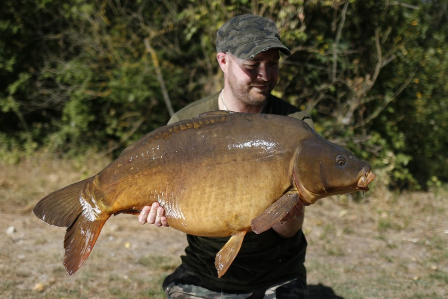 The Clean Fish at a spawned out weight of 38lb