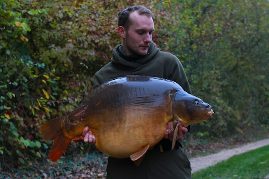 Thomas Moeller with The Clown at 57lb 6oz from Bobs' Beach in October 2016