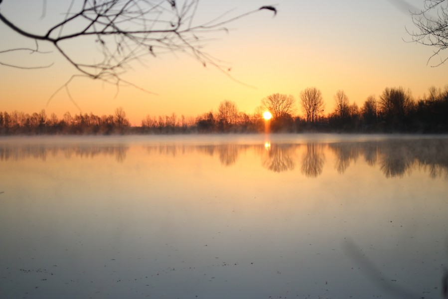 Another stunning day dawns on the Main Lake at Gigantica