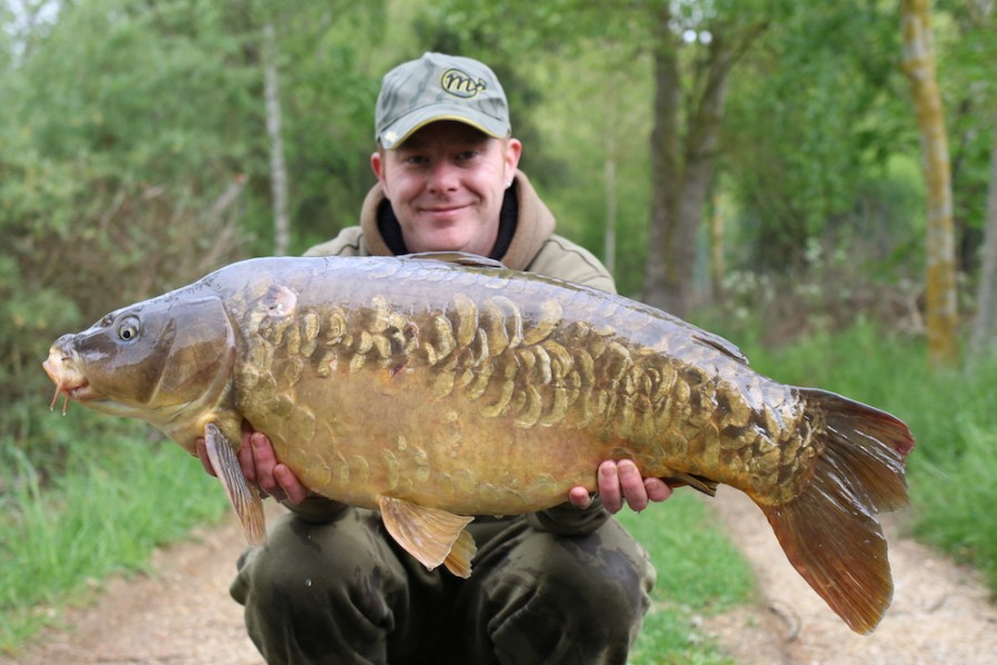Ryan Westby with Cut Tail Scaley at 35lb from The Stink 29.4.17