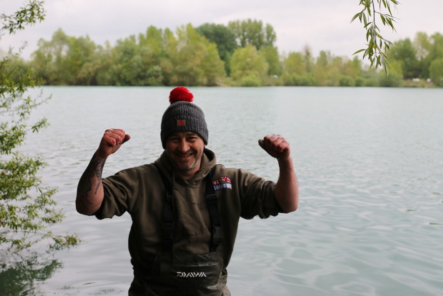 Jim was just a little bit happy with his result! What a fish.
