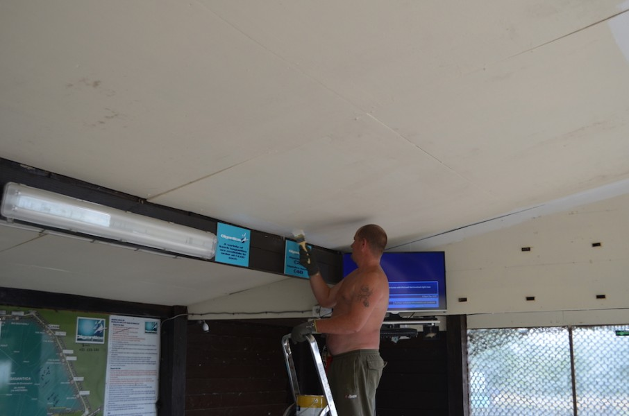 painting the Club house