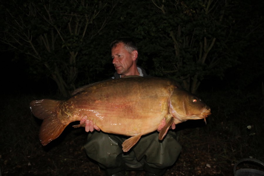 Russel Smith with Mr Tong at 39lb from Bob's Beach 22.7.17
