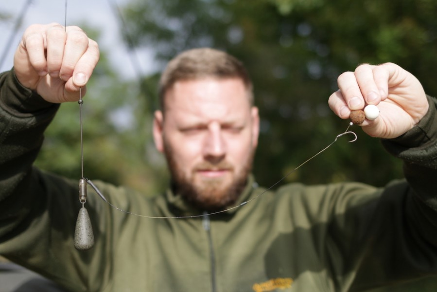 Mike's successful rigs for a spread of boilies.