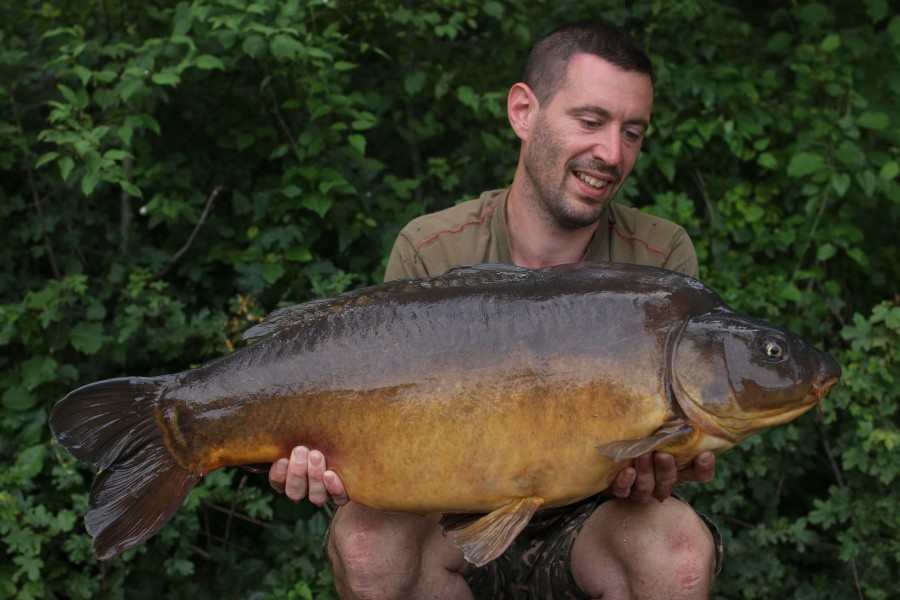Dennis Caetoven with The Missile at 36lb from Scotties Corner 15.06.2019