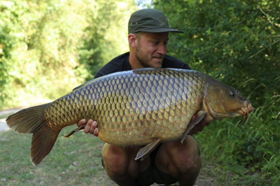 Lee England with Soliid at 50lb from Bob's Beach 29.06.19