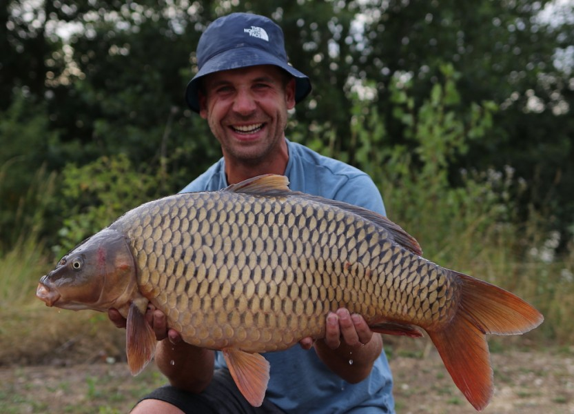 Sam Smith, 21lb 8oz, Stock Pond, 27.07.19