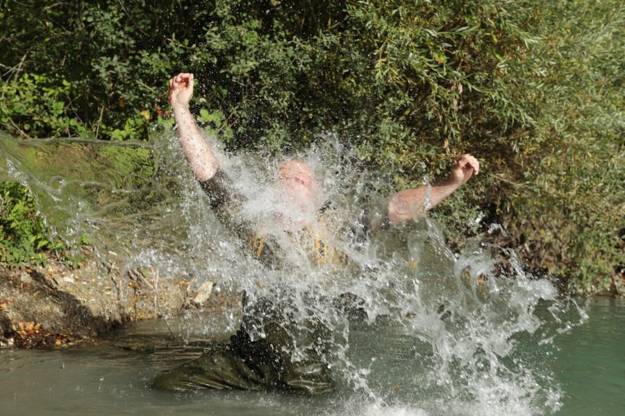 Steve French takes a pb soaking for the Immaculate Common