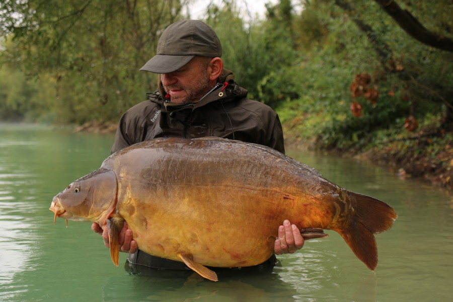 "The badger bags a new 50 with ""The Bean"" at 52lb!!........."