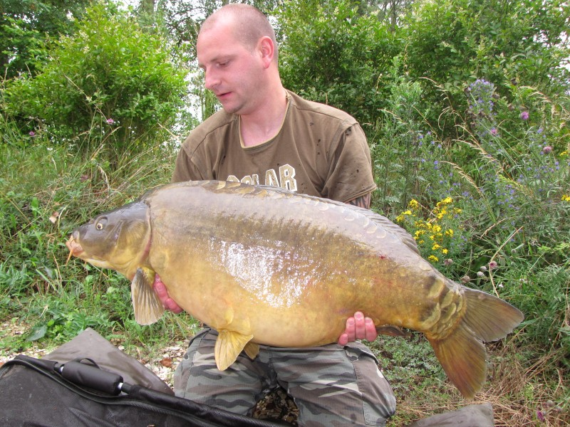 Nick with his new PB, 'Danish Bacon' @ 44+