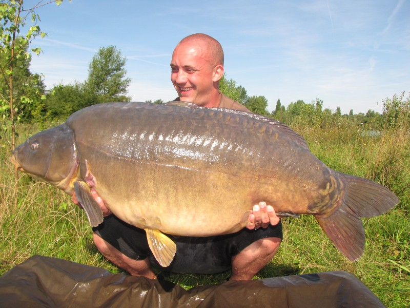 Darren with Pips at 54lb 6oz from Pole Position in August 2011