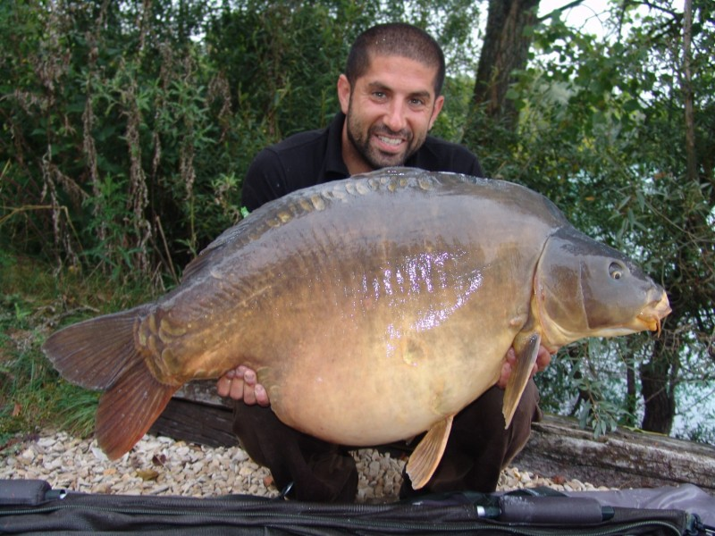 Ali with The 43' first time over 50lb in September 2011